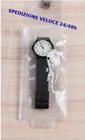 10 Custodie Pochette Orologio in pvc protezione porta orologio chiudibile 7x15cm