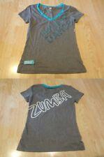 Women's Zumba S Grey & Blue S/S Shirt