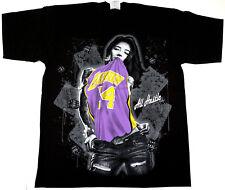 Los Angeles T-shirt LA Lakers Kobe Graffiti Art Lakeshow Tee Men XL Black New
