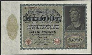 Germany, 10 000 Mark, 19.1.1922, P-71.