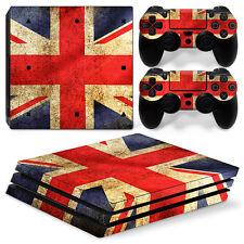 SONY PS4 PlayStation 4 Pro Skin Adesivo Pellicola Protettiva Set - Union Jack