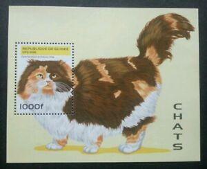 [SJ] Guinea Cats 1996 Children Pet Fauna Animal (miniature sheet) MNH