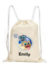 Personalised Puppy Dog Pals Drawstring Canvas Gym/ PE Bag