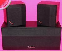 Set of 3 TECHNICS SPEAKERS Vintage SB-C80 160W Center SB-S50 80W Channel Working