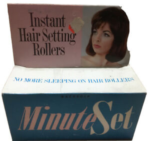 New Vintage 1960's Minute Set Instant Hair Setting Rollers BACA Ind. New York