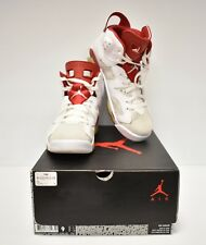 Air Jordan Retro 6 VI Alternate White Red Platinum 384664-113 Size 9