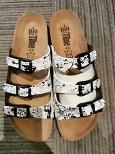 Bio Time Sandale Pantolette Damen Größe 42 bunt Neu UK 8