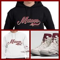 COP'EM CUSTOMS EXCLUSIVE HOODIE TO MATCH NIKE AIR JORDAN 6 MAROON'S!