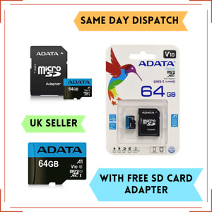 64GB Micro SD SDHC ADATA Memory Card UHS-I Class 10 With SD ADAPTER Mobile Phone