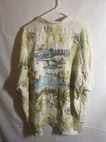 Tommy Bahama 100% Silk Button Front Embroidered Paradise Nation Shirt XXL