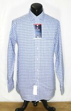 New Mens Chaps Cool Max Dress Shirt Regular Fit Stretch Blue Checks NWT 15 32/33