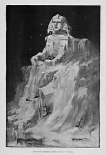 THE GREAT NORTHERN SPHINX SHIPS ICEBERG 1893 ANTIQUE ENGRAVING BY F. S. CHURCH