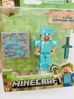 Minecraft Overworld Steve with Diamond Armor Figure Pack