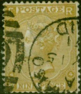 GB 1867 9d Straw SG110 Fine Used (2)
