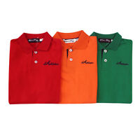 NEW Kids Boys Polo Shirt 100% Cotton Child T shirt Summer Top Short Sleeve Polo
