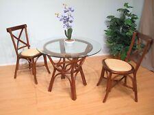 Kobe Rattan Honeymoon Bistro Dining Room Furniture 3 Piece Set