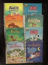 8 Disney Golden Books Lot:Alice in Wonderland, Snow Puppies, Lion King + 5 more