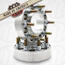 "2pc USA MADE 8 Lug 6.5"" CHEVY SILVERADO HUB CENTRIC Wheel Spacer  2"" Thick"