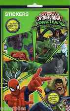 Ultimate SPIDERMAN VS SINISTRE 6. confezione da 700 ADESIVI Inc GLOW IN THE DARK spstr