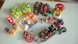 Playmobil - Plage - Vendeur Hot dog - Bateau - Pédalo - Quads - Lot divers Mixte