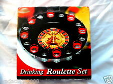 Roulette Drinking Casino Turntable Party Game - 16 Glasses Bar Set COMPLETE!!