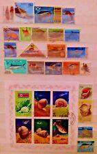 Sea & Agua Caracoles Peces Marinos Hoja De Estampillas De Tema temático Mini Lote 13291118