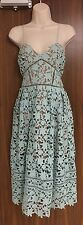SELF-PORTRAIT Mint Green Azaelea Dress Size UK 14