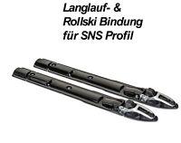 Langlauf- Skating- Skibindung & Rollski Bindung mit Fixator für SNS Profil