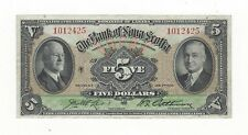 **1935**The Bank of Nova Scotia $5 Note Ch#550-36-02 SN# 1012425