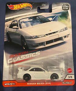 Hot Wheels Premium Car Culture Modern Classics Nissan Silvia (S14) White 3/5