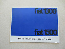 1960s Fiat 1300 & 1500 automobile advertising booklet