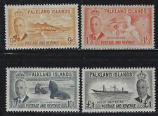 Falkland Islands 1952 George VI Definitive set Sc# 107-20 NH