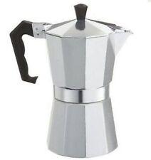 Alu Espressokocher Espresso bereiter 3 Tassen Silber Expresso Kocher