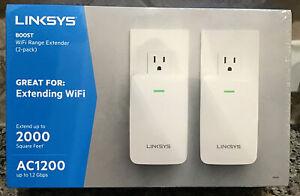 LINKSYS AC1200 RE6350 Dual-Band Wi-Fi Range Extender 2000 SqFt 2 Pack NIB SEALED