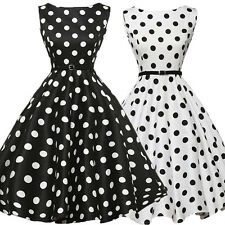 Women 50s 60s Swing Vintage Retro Housewife Pinup Rockabilly Evening Party Dress