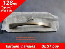 Premium kitchen door handles 40x128mm Tapered Flat Bow Brushed Stainless finish