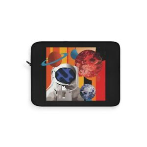 Abstract Astronaut & Space Universe Exploration Planet Design Laptop Sleeve New