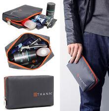 Mens Grey Waterproof Toiletries Bag Travel Shower Organizer Kit Case Size S #29