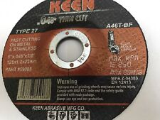 200 Pack Raised Hub Slice-It Cut-Off Wheel 5 x .045 x 7/8  KEEN ABRASIVES 59085
