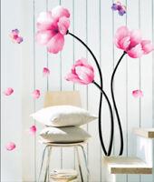 Wandaufkleber Wandtattoo Wandsticker wallsticker Blumen & Schmetterling WAK-034