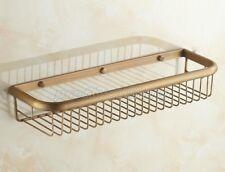 Antique Brass Wall Mounted Bathroom Soap / Sponge Shower Storage Basket Pba031