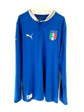 Italy Home Shirt 2012. Large. Puma. Blue Adults Long Sleeves Football Top Only L