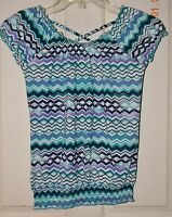 NWT EPIC THREADS Macy's girls Tropical Blue Teal TOP* S Small 6 7