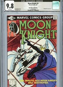 Moon Knight #9 CGC 9.8 White Pages Don Rosa Pedigree Gray Label Marvel 1981