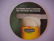 Beer Coaster Mat ~ HEINEKEN Brewery Lager ~ Bartender Skimmer Craftsman Assassin