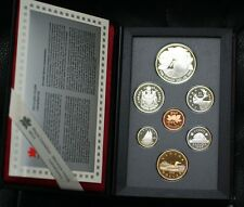 1996 Canada Proof Set, 7 Gem Coins, in Leather Case, Double Dollar Set, No Box