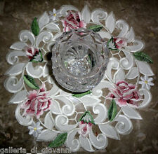 """Royal Rose Lace  Doily Flower Floral  11"""" Round Roses"""