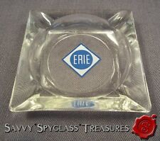 Vintage Erie Railroad Starucca RR Train Glass Ashtray