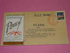 WWII FDC Hawaii Pearl Harbor Attack 68th Anniversary * ALL PAU * Sc 4769