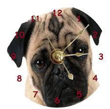 NEW Cute Pug Dog CD Clock